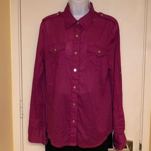 Tory Burch  Button Up Blouse,Size 12, Pristine